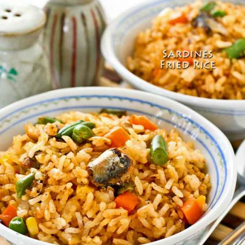 Quick and easy Sardines Fried Rice.