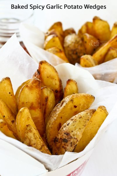 Delicious Baked Spicy Garlic Potato Wedges