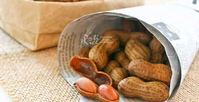 Boiled Peanuts - a deliciously simple and tasty snack. Takes several hours on the stove (much faster in a pressure cooker) but well worth the effort.   RotiNRice.com