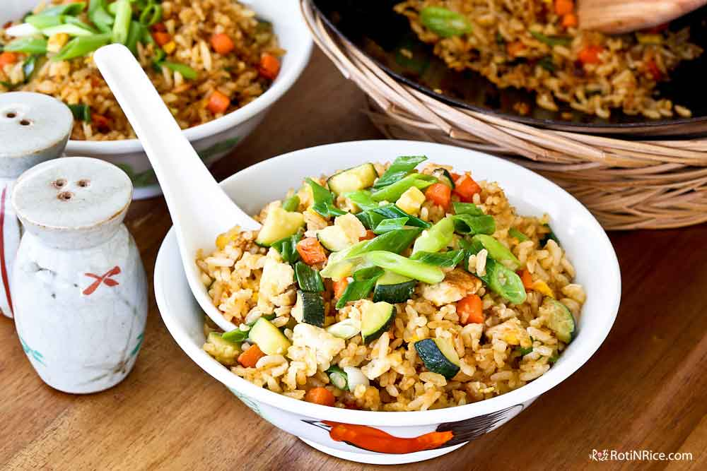 Zucchinis are great in fried rice.