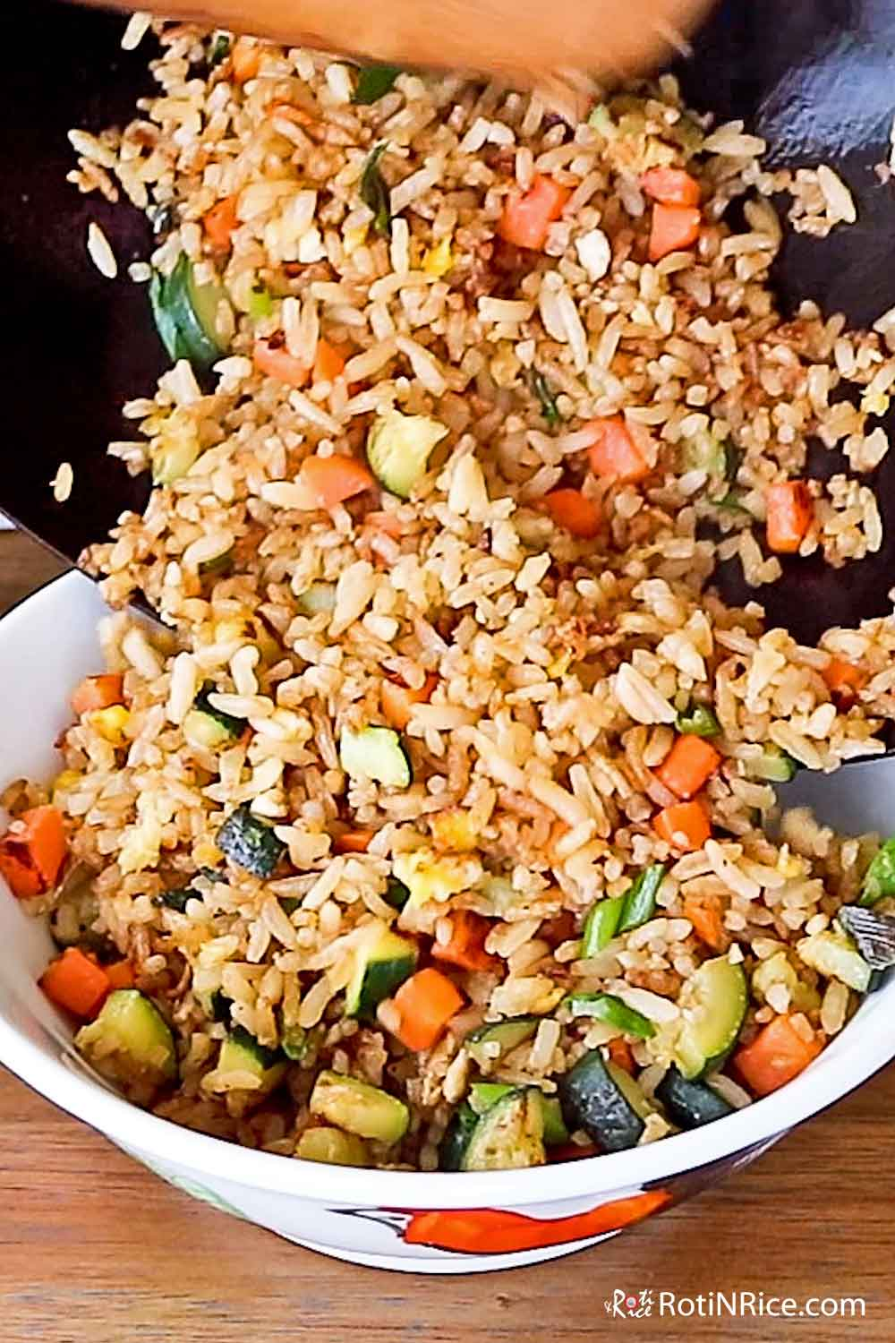 Fluffy Zucchini and Egg Fried Rice