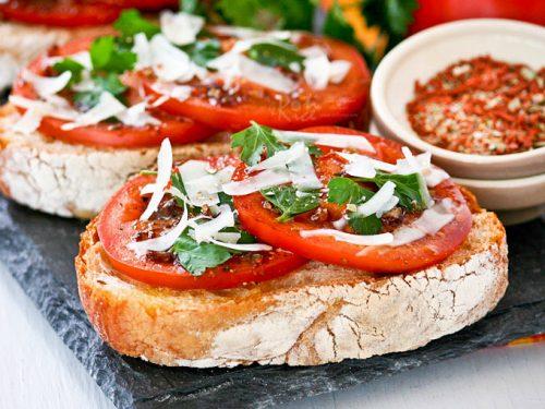 Bruschetta Al Pomodoro Bruschetta With Tomatoes Roti N Rice