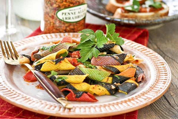 Garganelli alla Arrabiatta (Pasta with Hot Chili Pepper)