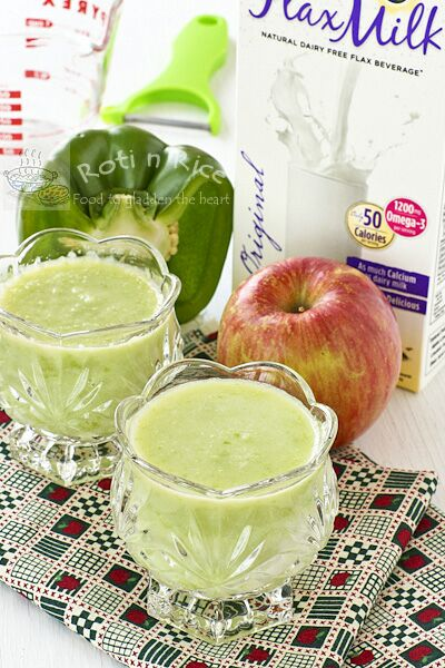 Apple, Green Pepper, and Flax Smoothie