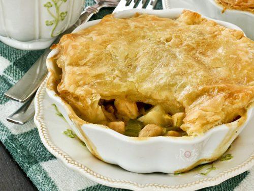 Potato Leek And Chicken Pot Pie Roti N Rice