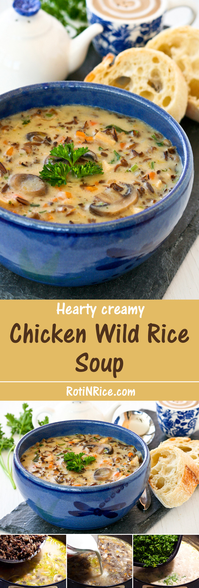Hearty and creamy Chicken Wild Rice Soup