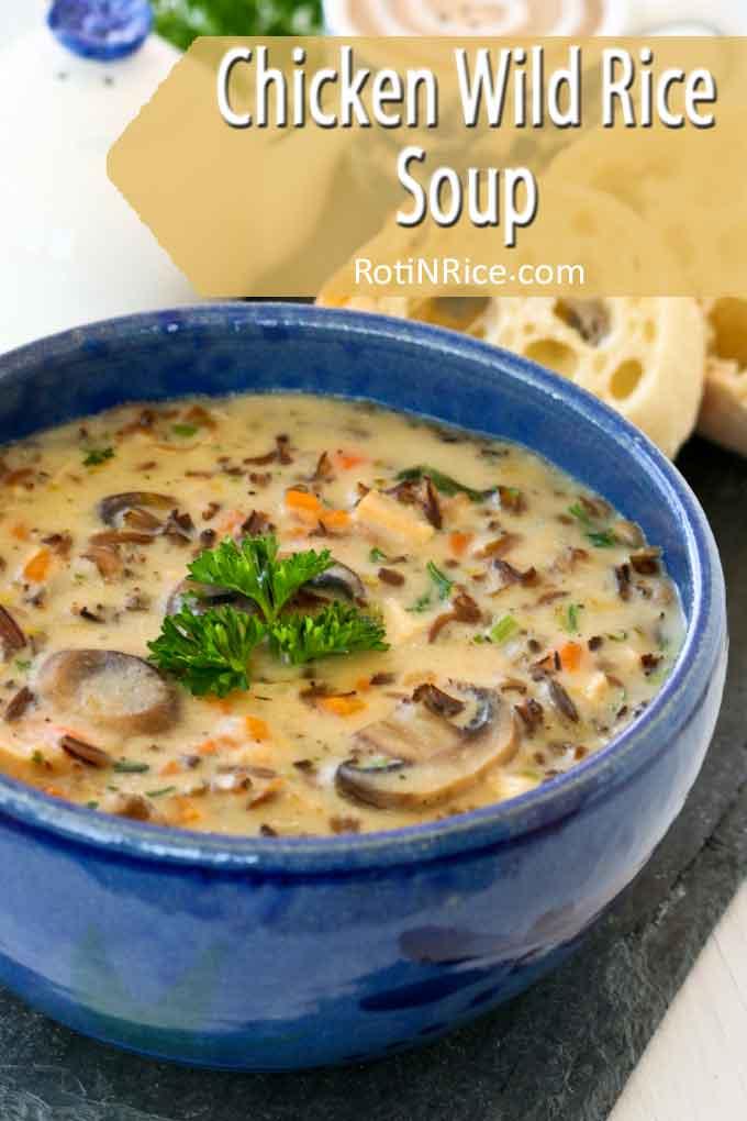Deliciously creamy Chicken Wild Rice Soup