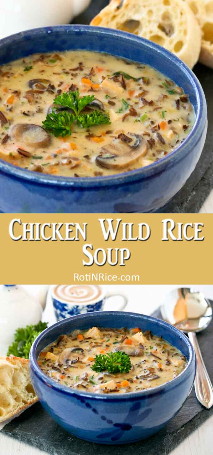 Warm and comforting Chicken Wild Rice Soup