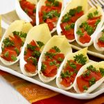 Stuffed Endives with Salmon and Pistachio Cream Cheese
