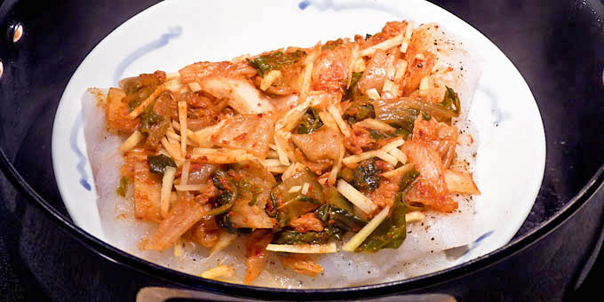 Steamed Cod with Kimchi-4