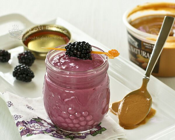 Blackberry Peanut Butter Smoothie