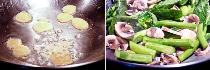 Stir Fry Gai Lan (Chinese Broccoli)-6