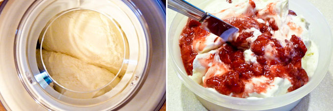 Strawberry Swirl Cream Cheese Ice Cream-9