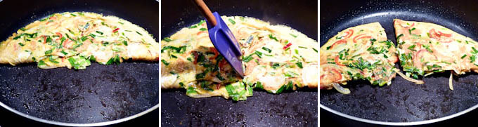 Omelet with Chives and Onions-6