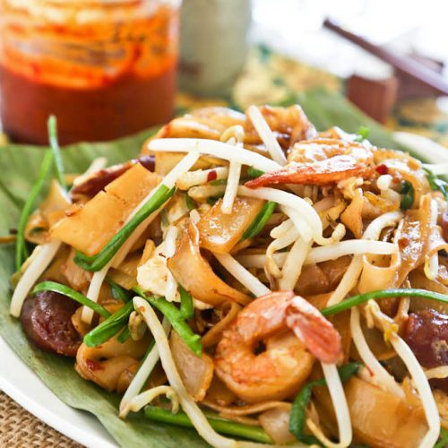 Super delicious Char Koay Teow served with extra sambal on the side.