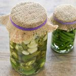 Pickled Green Chilies and Garlic