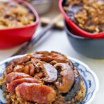Lo Mai Gai (Steamed Glutinous Rice with Chicken) and Chinese sausage