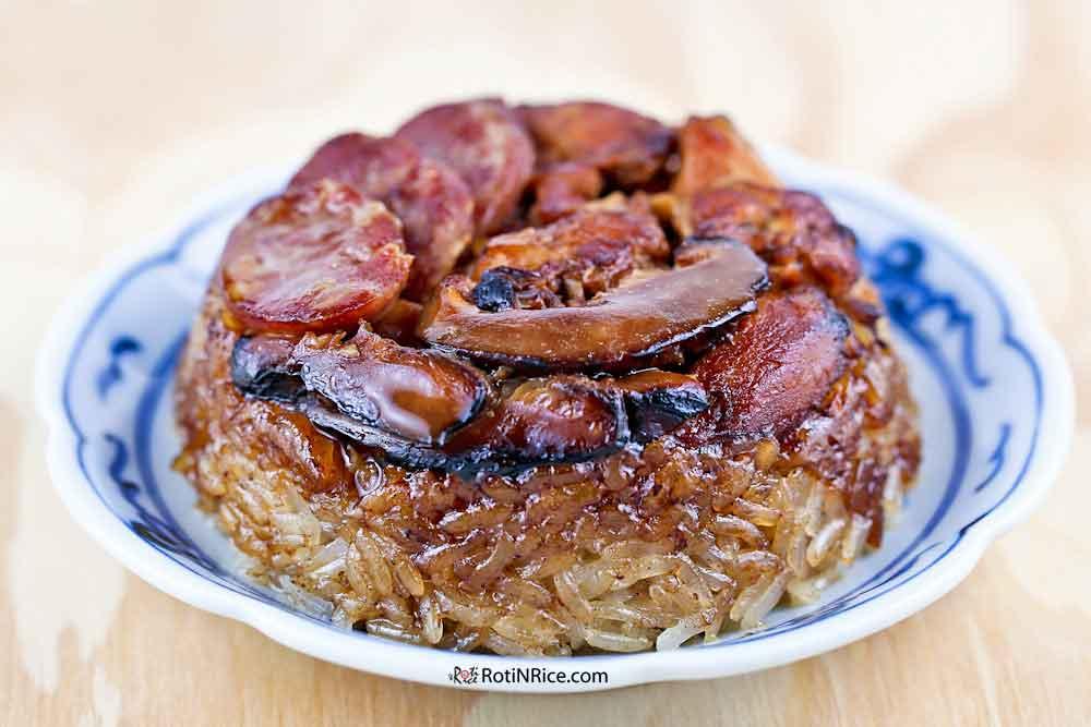 Lo Mai Gai (Steamed Glutinous Rice with Chicken) - a dimsum favorite