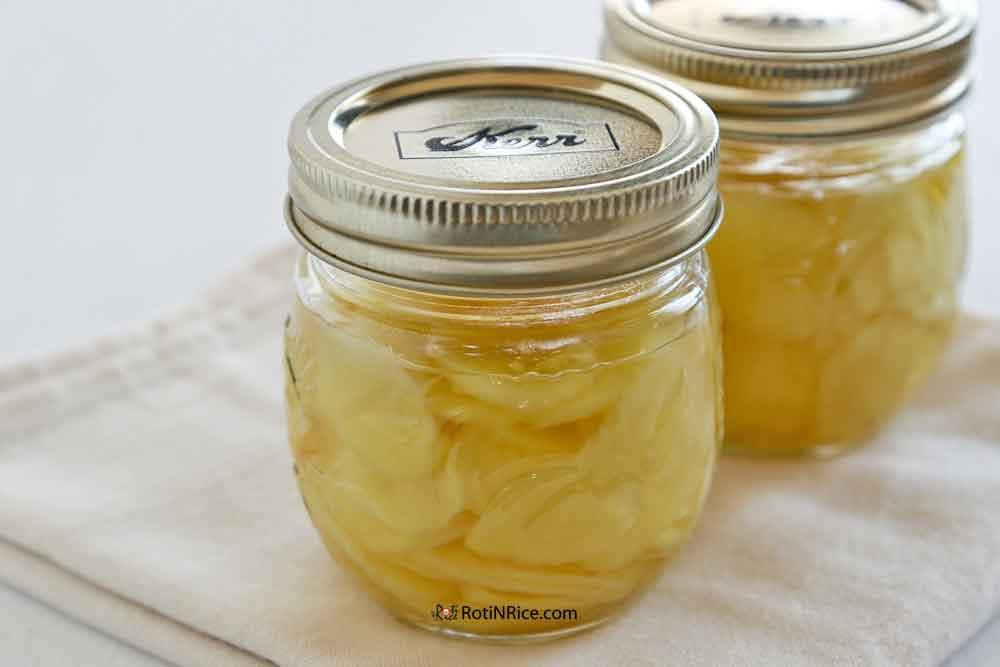 Pickled Ginger in jars