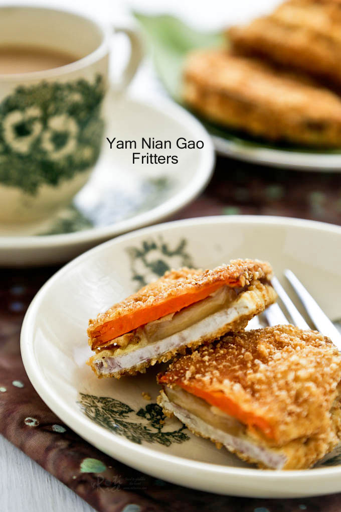 Hot and crispy Yam Nian Gao Fritters