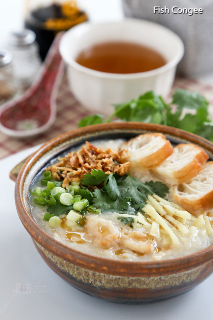 This simple and delicious Fish Congee is especially heart warming and satisfying on a cold day. It is light, tasty, and naturally gluten free. | RotiNRice.com