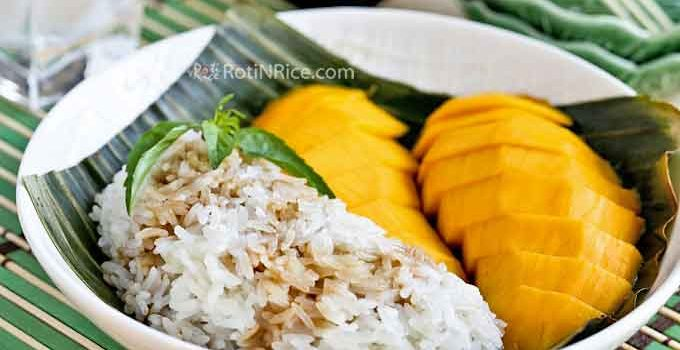 Taste this Mango Sticky Rice Dessert to fully appreciate it. The combination of mangoes and coconut infused sticky rice is simply marvelous. | RotiNRice.com