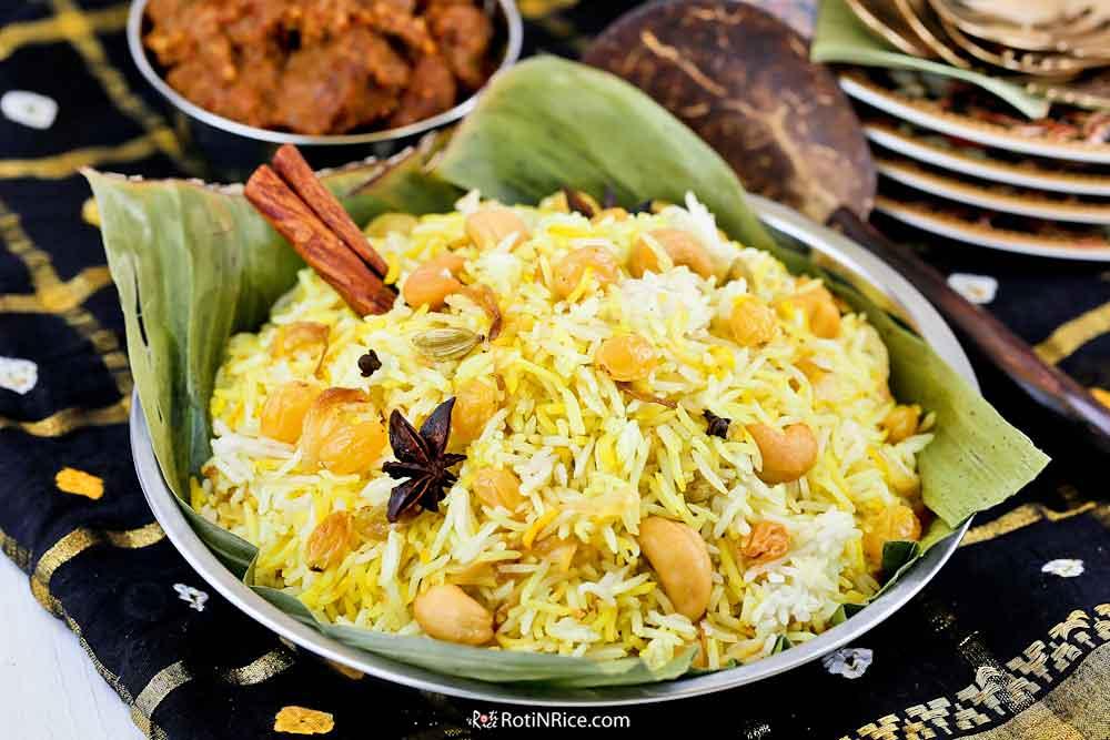 This Nasi Biryani/Briyani is a base for all meat biryanis.