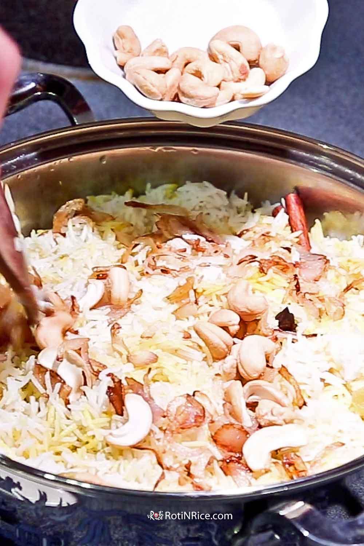 Freshly cooked Nasi Biryani/Briyani