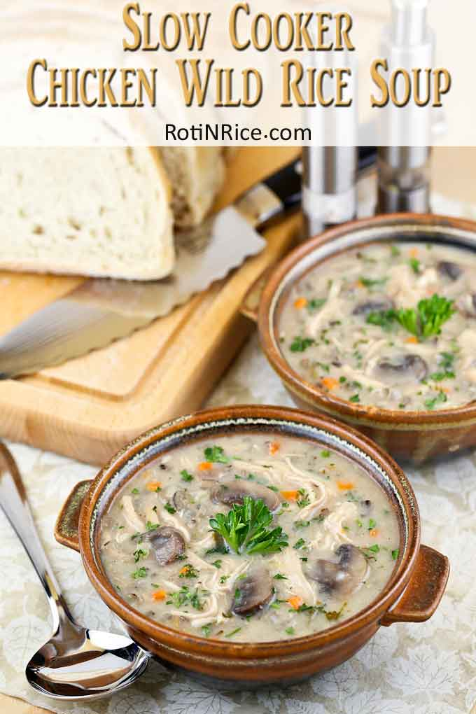 Deliciously creamy Slow Cooker Chicken Wild Rice Soup
