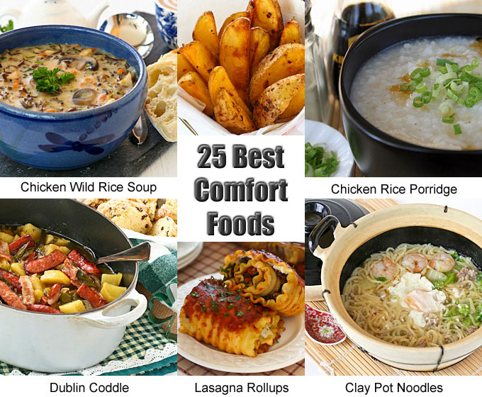 25 Best Comfort Foods to prepare as the weather cools down. Choose from warm and delicious appetizers, soups, side dishes, main dishes, and noodles. | RotiNRice.com