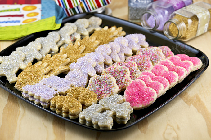 These fun Sugar Cookies are buttery, eggless, and easy to handle. Only 5 ingredients and your choice of shapes and sprinkles. | Food to gladden the heart at RotiNRice.com