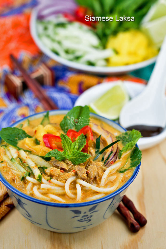 Super tasty and delicious Siamese Laksa with all the toppings.