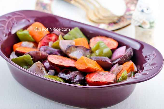 Colorful and delicious Roasted Vegetables