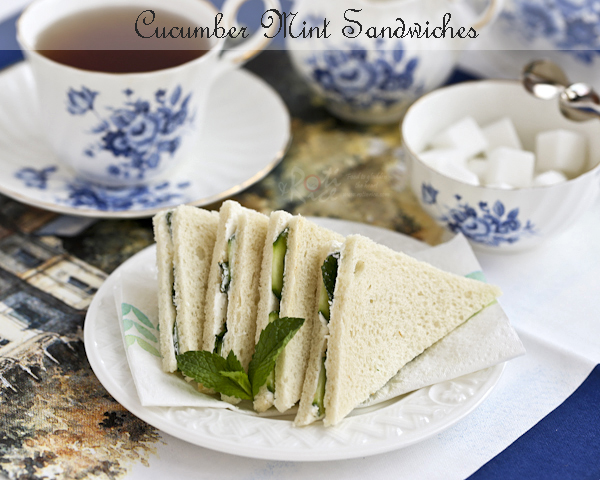 Cucumber Mint Sandwiches