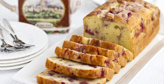 This fine textured Raspberry Swirl Cream Cheese Pound Cake is perfect for tea time or the holidays. It is wonderfully fragrant, moist, and delicious. | Roti n Rice