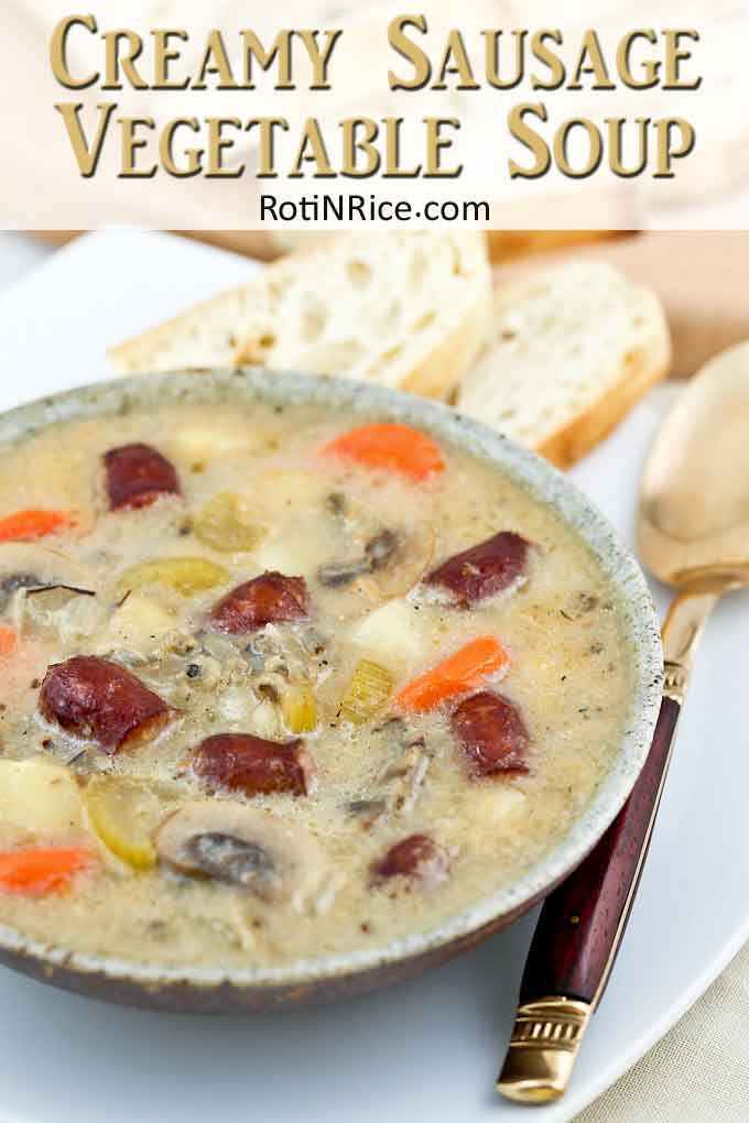 Creamy, warm, and comforting soup served with crusty bread