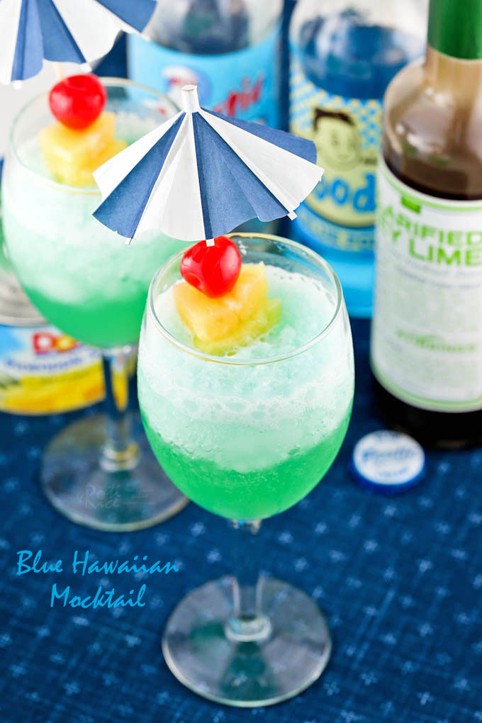 Blue Hawaiian Mocktail - a fun and cool drink.