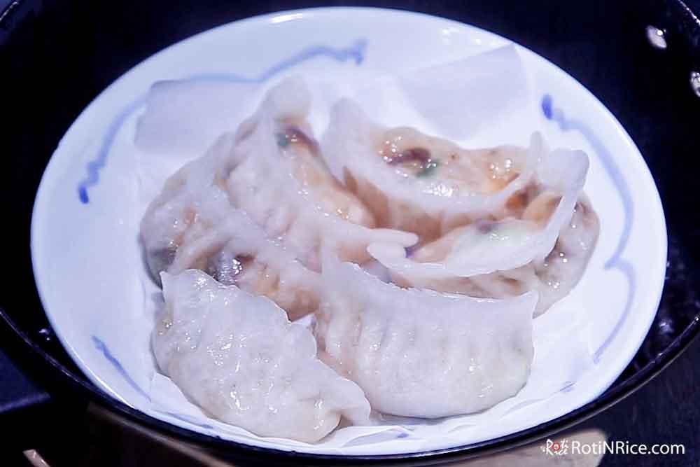 Freshly steamed Shrimp Dumplings