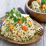 Quinoa Salad with Kabocha and Roasted Garlic