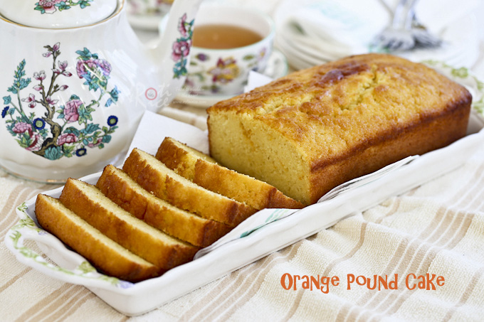 Fragrant, moist, and tender Orange Pound Cake flavored with freshly squeezed orange juice and orange zest. Perfect for snack time or tea time. | RotiNRice.com #poundcake #orangecake #cakerecipes