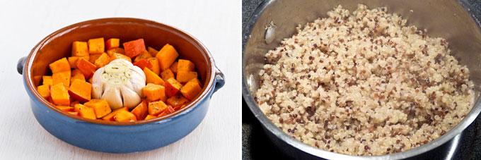 Quinoa Salad with Kabocha and Roasted Garlic-1