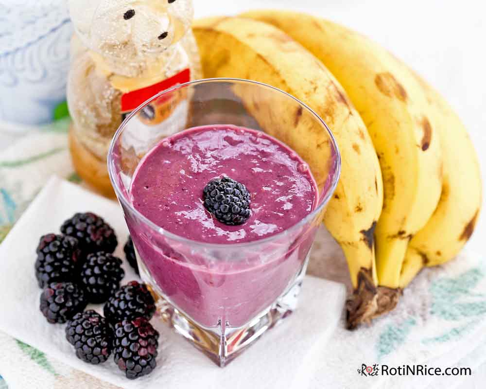 This Blackberry Banana Smoothie is a great start for the morning.