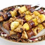 Chicken Pineapple Sausage Kabobs