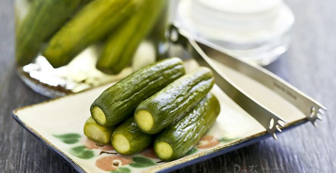 These quick and easy Pickled Cucumbers are great as a snack or condiment for your sandwiches. They are delightfully cool and crunchy. | RotiNRice.com
