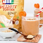 Start your day right with this low fat Peanut Carrot Smoothie. It is deliciously creamy and has the same amount of protein as traditional peanut butter. | RotiNRice.com