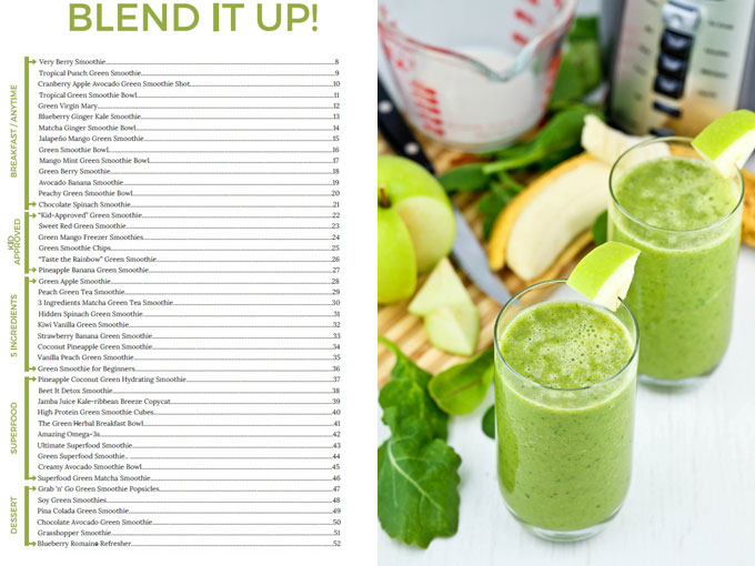 Green Apple Smoothie from The Great Big Book of Green Smoothies | RotiNRice.com