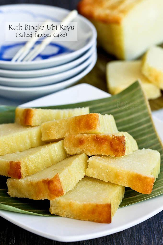 Fragrant and delicious Kuih Bingka Ubi Kayu (Baked Tapioca Cake).