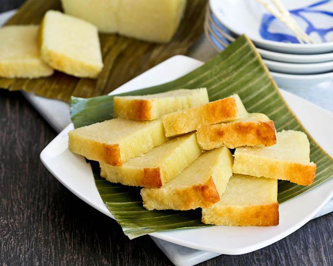 Moist, tender, and fragrant Kuih Bingka Ubi Kayu (Baked Tapioca Cake).