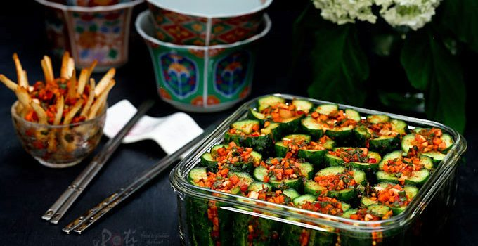 This cool, refreshing, and tasty Stuffed Cucumber Kimchi will surely perk up your rice meals. It has a crunchy texture and is easy to prepare.| RotiNRice