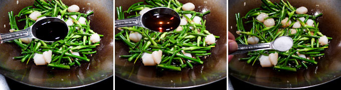 Garlic Scape and Scallop Stir Fry-10